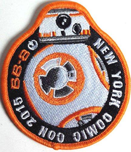 York Eisen Auf Patch-new (Star Wars bb-8New York orange bestickt oder Aufnäher Aufbügler Bügelbild 9cm)