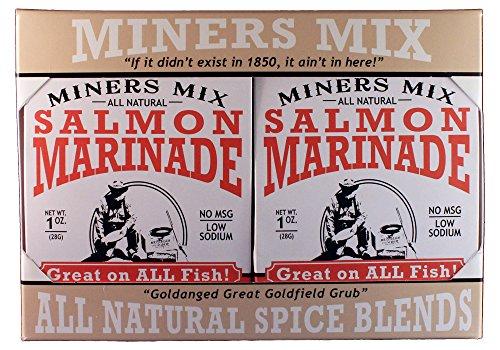 Miners Mix Salmon Gourmet Grillmarinade Mix 4er Pack Perfekt für Alle Fische die von Albacore nach Wahoo Schwimmen