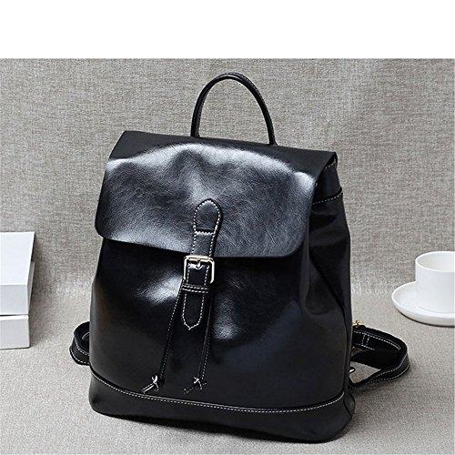 cuoio signore borsa semplice college femminile, il vento del tempo libero,claret black