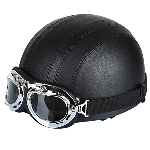 FREESOO Casco Abierto Protección para Motocicleta Scooter Bicicleta 5