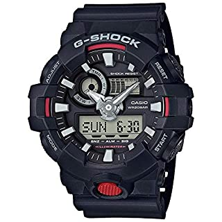 G-Shock Men's Analog-Digital GA700-1A Watch Black