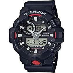 Casio G-Shock By Men's Analog-Digital GA700-1A Watch Black