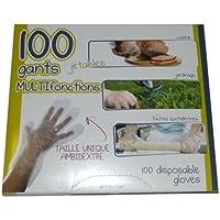 lot de 100 gants jetables MULTI-fonctions cuisine/jardinage/tâches quotidiennes