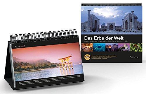 KUNTH Tischkalender Das Erbe der Welt: 365 Tage, immerwährendes Kalendarium