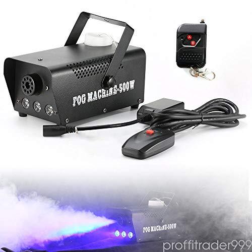 500W Rauchmaschine 3 Blaues LED-Licht für Bühne Hochzeit Bar Kabellose Kontrolle Nebelmaschine