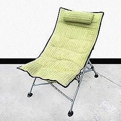 JU FU balancelle Chaise longue de bureau pliante chaise adulte extérieure portable portable sieste chaise arrière au soleil chaise longue pause déjeuner, 9 couleurs des fauteuils inclinables