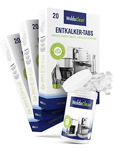 WoldoClean I 60x Entkalker-Tabletten I 150x Reinigungstabletten für Kaffeevollautomaten I...