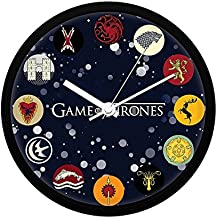 Redwolf Game of Thrones Wall Clock of All Houses |Decorative Unique Wall Clock | Officially Licensed by HBO, USA