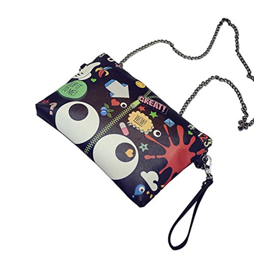 Transer  Polyester Handbags & Single Shoulder Bags Women Zipper Bag Girls Hand Bag, Borsa Messenger  Unisex adulti Donna Uomo Unisex per bambini Bambini, Image B (multicolore) - ZHY60831986 Image B