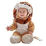 Janly Baby Halloween Tier Kostüm Hooded Bodysuit Footies Spielanzug Onesie Outfit (Größe: 80CM, Löwe)