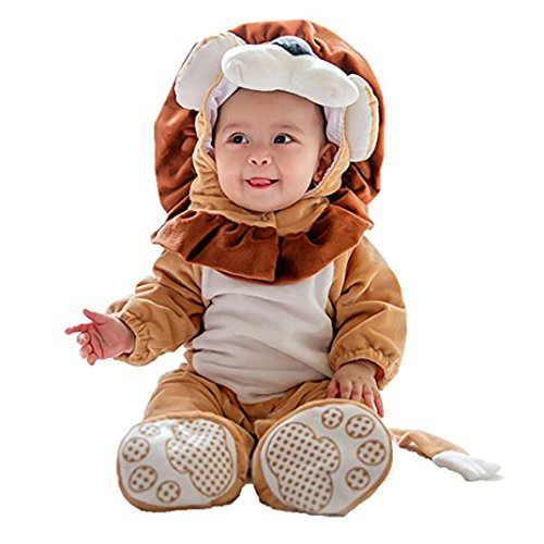 Janly Baby Halloween Tier Kostüm Hooded Bodysuit Footies Spielanzug Onesie Outfit (Größe: 90CM, - Halloween-kinder-outfits