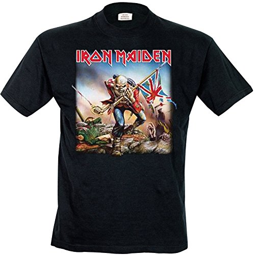 Collectors Mine Herren T-Shirt Iron Maiden-Trooper, Gr. 52 (XL), Schwarz (Schwarz) (Maiden Herren Iron)