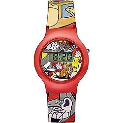 Warner Bros-TJ-01-Tom & Jerry-Children's watch-Digital Quartz-Red Dial Red Plastic Strap