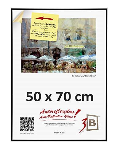 3B ALU POSTER BRUSHED - 50x70 cm B2 - negro mate -