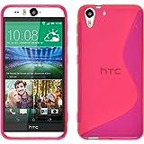 PhoneNatic Case für HTC Desire Eye Hülle Silikon pink, S-Style + 2 Schutzfolien