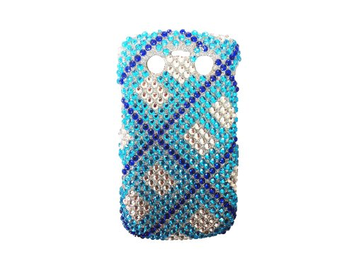 AQ Prem. Diamonte for Iphone 4G Blau Silber Futter DA004- 220441
