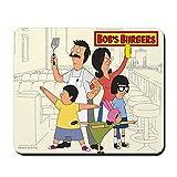 CafePress–Bob s Burger Hero Familie–rutschfeste Gummi Mauspad, Gaming Maus Pad