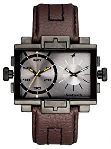 Fastrack Midnight Party Dual Time Analog Grey Dial Men's Watch - 3096NL02