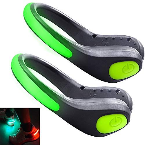 HEAWAA LED Schuh Clip Blink Clip,Wasserdicht LED Lichter Reflektierende, LED Schuh Clip Bike Shoe Schuhclip Lichter Sicherheit Nachtlicht für Laufen, Wandern, Straßentanz