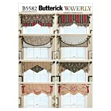 Butterick Patterns B5582 One Size Only Reversible Window Valance, Pack of 1, White