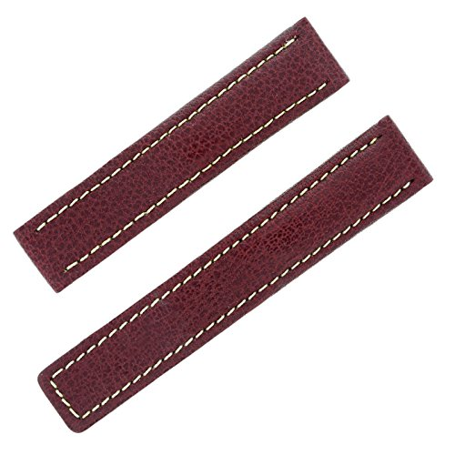 Tag Heuer 18–17mm burgund Leder Herren-Armbanduhr Band