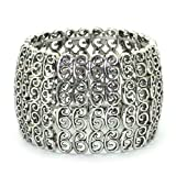 Womens Charming Metal Detailed Stretchy Bangle / Bracelet / Cuff