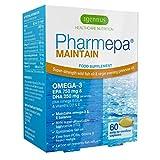 Pharmepa MAINTAIN, forte dose d'oméga-3 EPA & DHA par prise, huile de poisson de qualité pharmaceutique & huile d'onagre avec de la vitamine D3, 60 capsules
