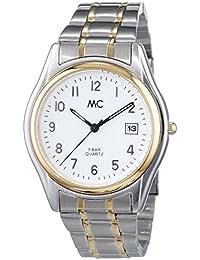 MC Timetrend Herren-Armbanduhr mit bicolor Messingband, Analog Quarz 27358