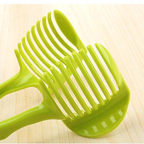 MagiDeal Küche Obst Slicer Gemüse Tomate Clip Halter Zitrone Kartoffel Schneid Messerhalter Werkzeug - 5