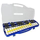 Percussion Workshop kb2727Note Glockenspiel chromatique avec étui de transport et baguettes