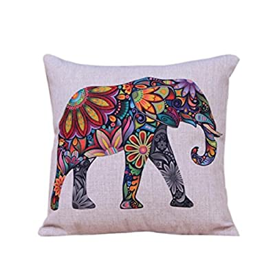 Culater®Home Car Bed Sofa Decorative Colorful Elephant Pillow Case Cushion Cover - cheap UK cushion shop.