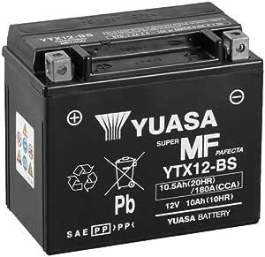 Batterie Yuasa Ytx12 Bs Wc Agm Geschlossen 12v 10ah Cca 180a 150x87x130mm Für Kawasaki Er 6 F N 650 Baujahr 2010 Auto