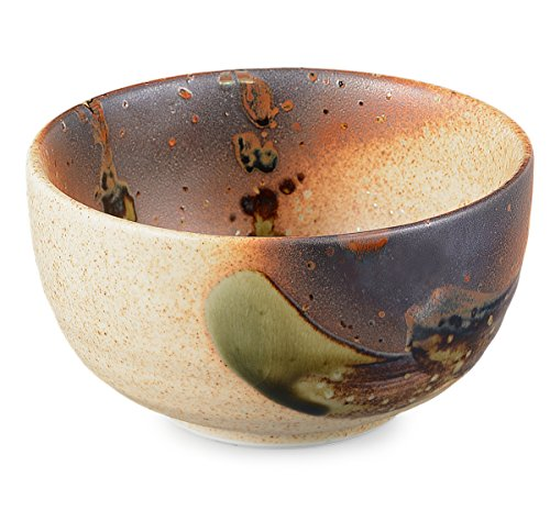 Aricola Original japanische Matcha Schale handglasiert beige/braun 450ml