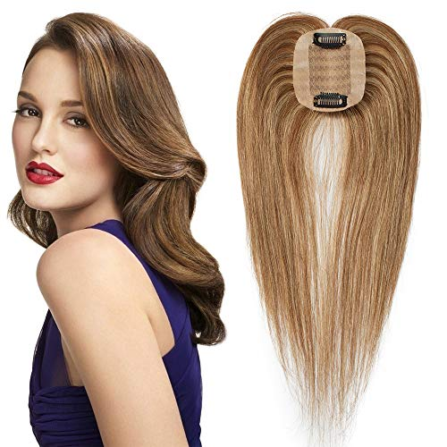 TESS Pony Haarteil Topper Clip in Extensions Echthaar Toupee Haarverlängerung Lace Front Closure Toupet für Frauen 14