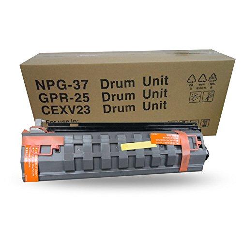 aotusi kompatibel ersatz schwarz Tinte Laser Toner Cartridge Trommeleinheit für Verwendung in Canon Kopierer. Passend für Canon iR2018202220252030gpr-25npg-37C-exv23–Schwarz