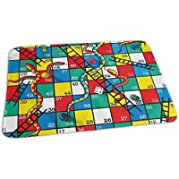 Snakes And Ladders Game Mat Vintage Girls Bed Wetting Pads Carpet 40 * 60 Cm