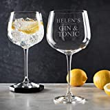 Personalised Gin Glass/Gin Related Gifts/Christmas Gifts for her/Personalised Birthday Gifts For Women/Best Friend Gifts For Women/christmas gin gifts