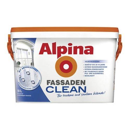 Preisvergleich Produktbild ALPINA FassadenCLEAN Außenfarbe weiß 10 L., selbstreinigend NEU