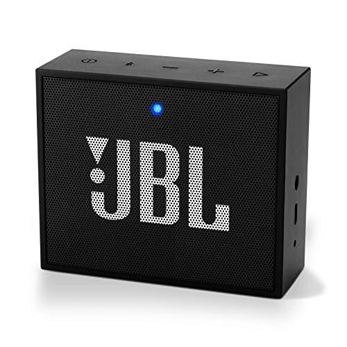 JBL Go+ Enceinte Bluetooth Portable - Baffle avec Kit Mains-libres et Réduction de Bruit - Non Étanche - Autonomie 5hrs - Qualité audio JBL - Noir