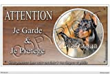 Pets-Easy.com Panneau chien ou plaque Dobermann-01 30 cm...