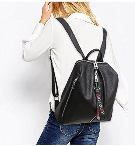 Korean Fashion Lady Rucksack Handtaschen Black