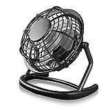 CSL - desk-fan / Fan to connect i.e. with the PC | desk fan / Fan | PC / Notebook | diameter of fan: 12cm / 4,7 inches | black
