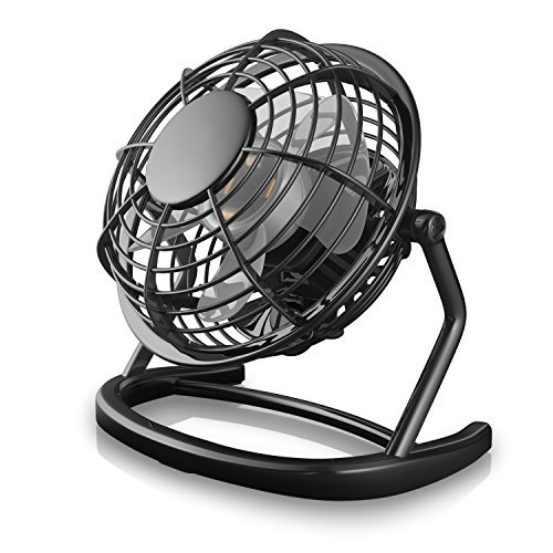 Price comparison product image CSL - desk-fan / Fan to connect i.e. with the PC | desk fan / Fan | PC / Notebook | diameter of fan: 12cm / 4,7 inches | black