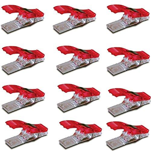 Naehen Kunst Decke Verbindlich Kunststoff Clips Schellen 50pcs Klar Und Rot (Quilt-nadeln)
