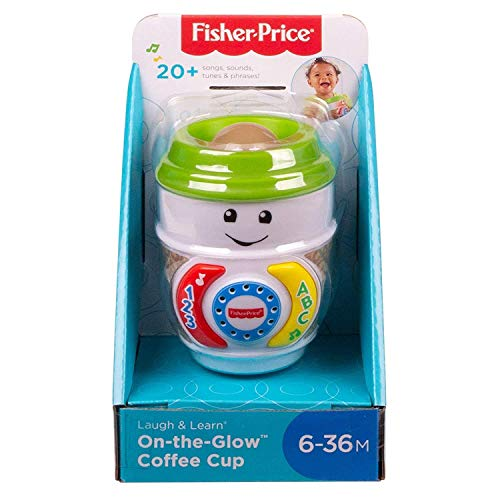 Fisher-Price GHJ04 Laugh & Learn On-The-Glow Taza de café, Juguete Interactivo para bebé