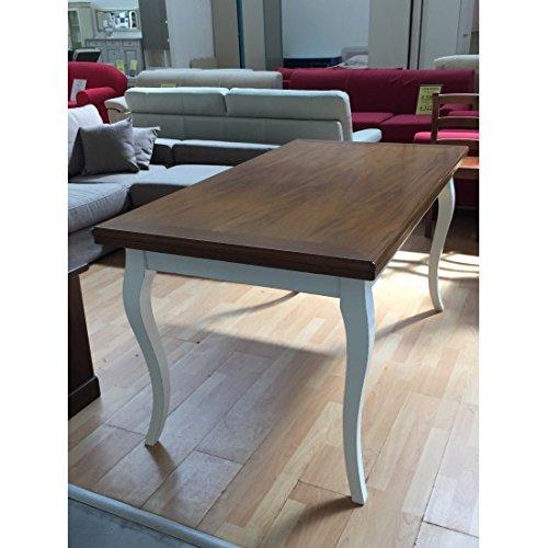 EsteaMobili estea Meubles – Table Bois Bicolore provençal 100 x 100 allungabilelegno Massif – 334 – comme Photos