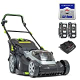 Murray 883266 Lithium-Ion 44cm Lawn Mower IQ18WM44, Including 2X 5Ah Battery and Dual