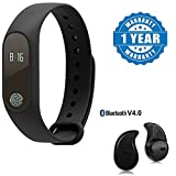 #8: Captcha Xiaomi Mi Note 2 Compatible Certified M2 Water Proof Smart Band Compatible With Bluetooth & Heart Rate Sensor With Wireless Bluetooth S530 (1 Year Warranty)