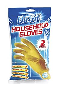 Duzzit Household Gloves, rubber gloves, 2 pairs, MEDIUM