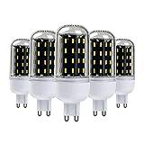 5×GreenSun 3.5W G9 LED Energiespar Mais Birnen SMD 56*4014 Hochleistungs Lampen 280LM 3000K Warmweiß Wechselstrom 25W Glühlampe Equivalent